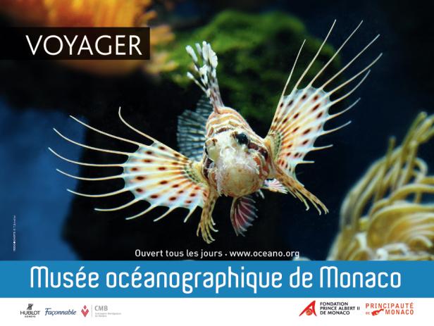 Musée océanographique Monaco publicité