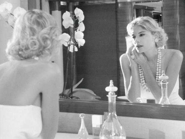 Photo modèle noir et blanc
